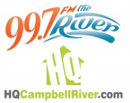 99.7 FM The River Logo