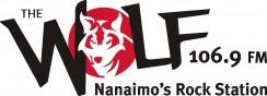 106.9 FM The Wolf Logo