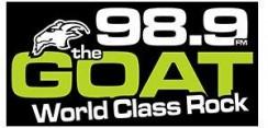 98.9 The Goat Logo